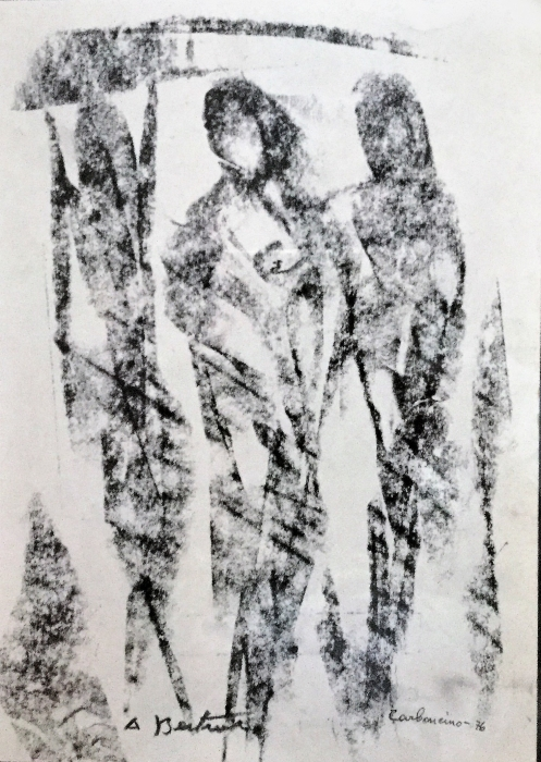 Quadro Figure in movimento Carboncino - Amleto Bertrand