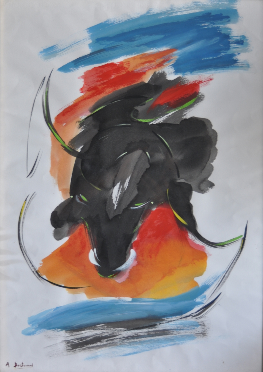 Quadro Toro Tempera su Masonite - Amleto Bertrand